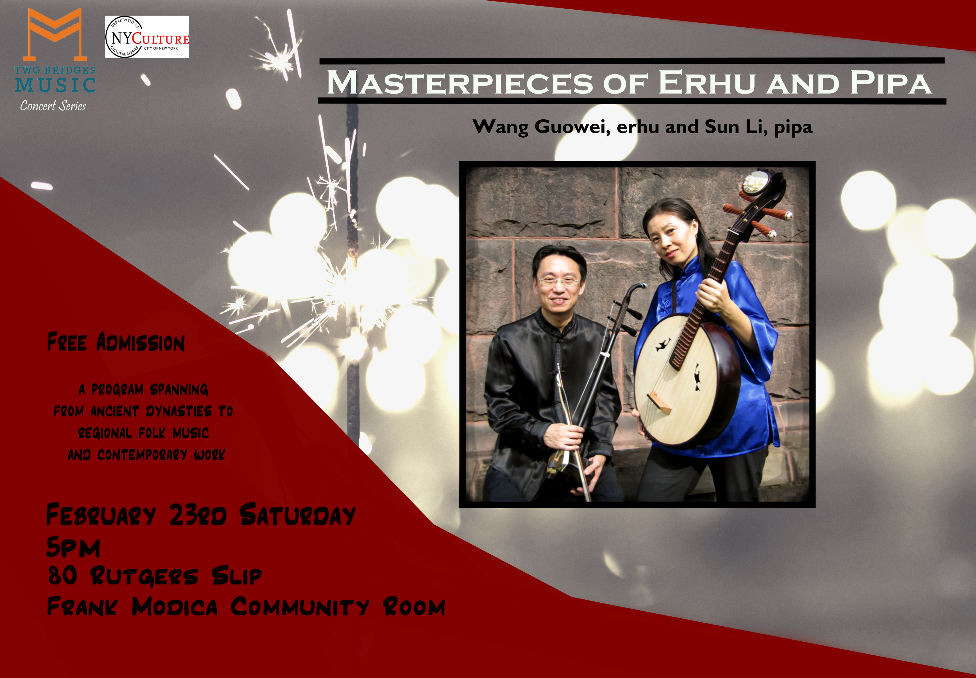 Music From China Presents Masterpieces Of Erhu And Pipa